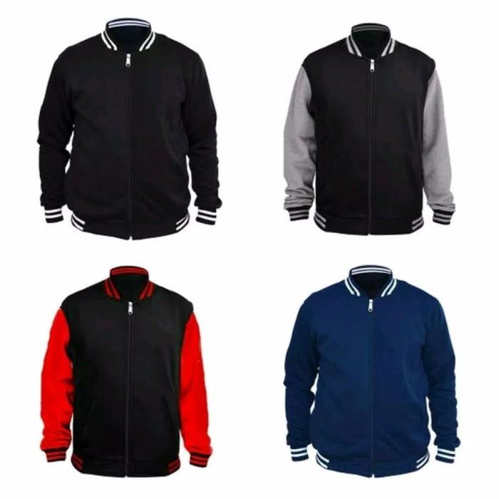 BEST MODEL Best Seller Jaket Polos Varsity Ukuran Jumbo Big size XXL