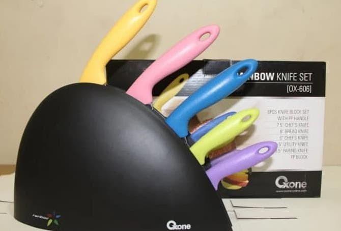 Rainbow Knife Set 6 Pcs Pisau Oxone OX-606