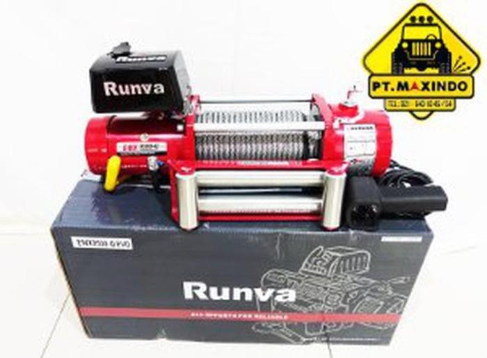 Jual RUNVA Winch EWX-9500-Q EVO Kapasitas 4 3 ton GEAR RATIO 80 Ban Limited  - DKI Jakarta - GM Autopart | Tokopedia
