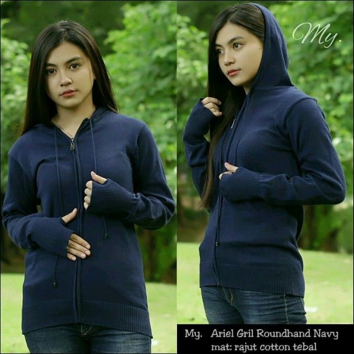 Sweater|Sweater Cewek|Sweater Navy|Sweater Rajut Greenlight|Murah Ori