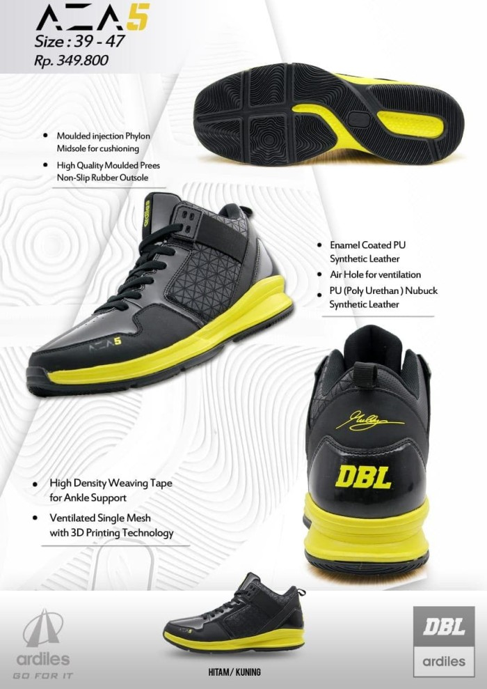 8882c930909 Review Sepatu Basket DBL Ardiles AZA5   AZA 5 Limited Edition Di ...