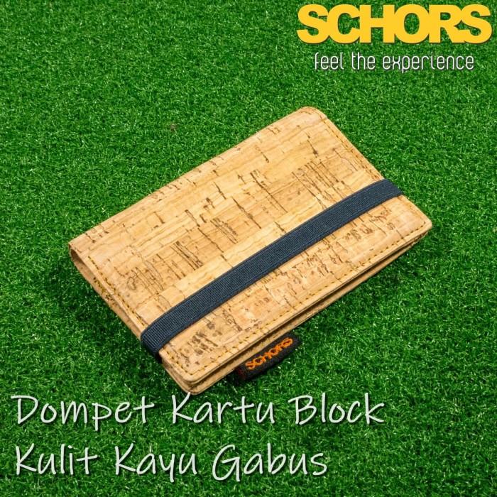 jual dompet kartu card holder durio block dari kulit kayu schors