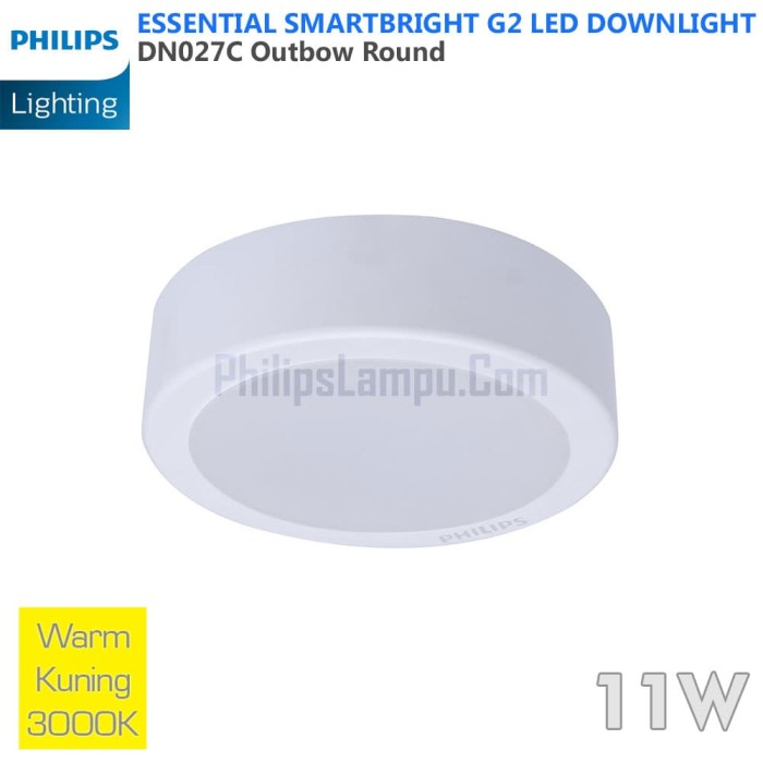 Foto Produk Lampu Downlight LED Outbow Philips 11W DN027C 11 W Warm White Kuning dari philipslampu