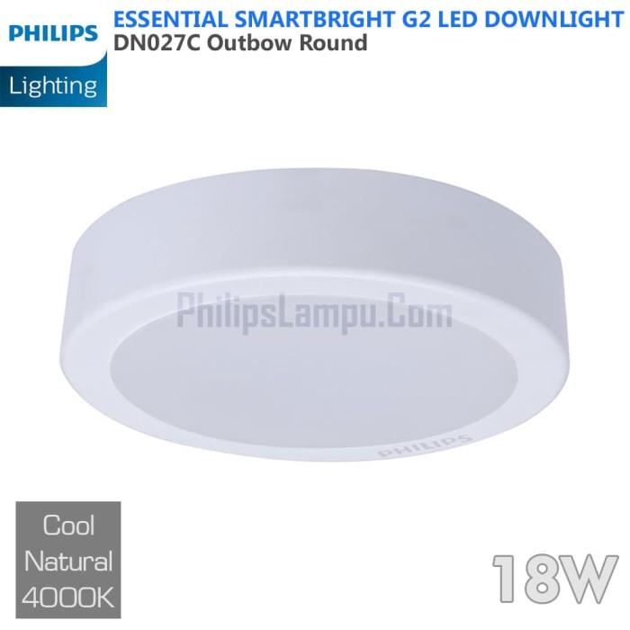 Foto Produk Lampu Downlight LED Outbow Philips 18W DN027C 18 W Cool White Natural dari philipslampu