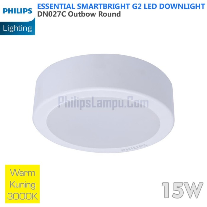 Foto Produk Lampu Downlight LED Outbow Philips 15W DN027C 15 W Warm White Kuning dari philipslampu