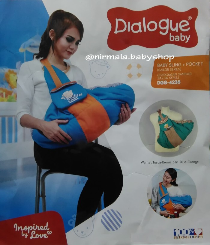 Gendongan Samping (Baby Sling + Pocket) Dialogue Sailor Series DGG 423