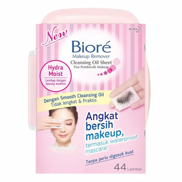 Biore Make up Remover Cleansing Oil Sheet 44 Lembar (Tissue Pembersih)