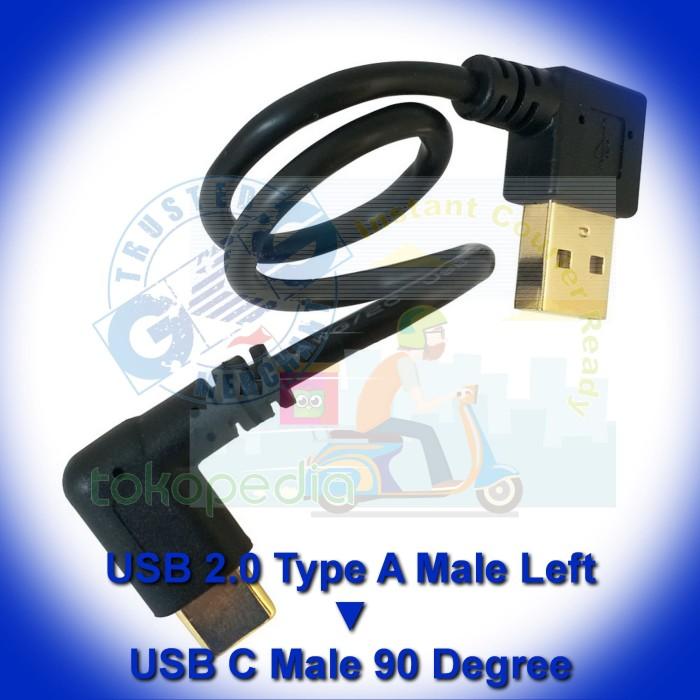 1x 25cm Mini USB Male to USB 2.0 Type A UP Angle Male Plug for Camera Mp4 GPS