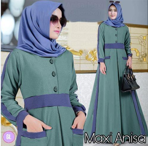 Atasan Wanita Muslim - Maxi Dress Busana Muslim Gamis Murah - Dzikri ... 58c9a39fa0