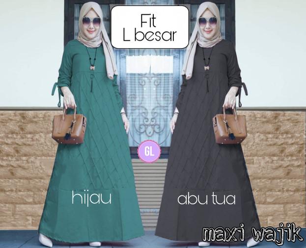 Atasan Wanita Muslim - Busana Muslim Maxi Dress Gamis Murah 2 ... c733346f63