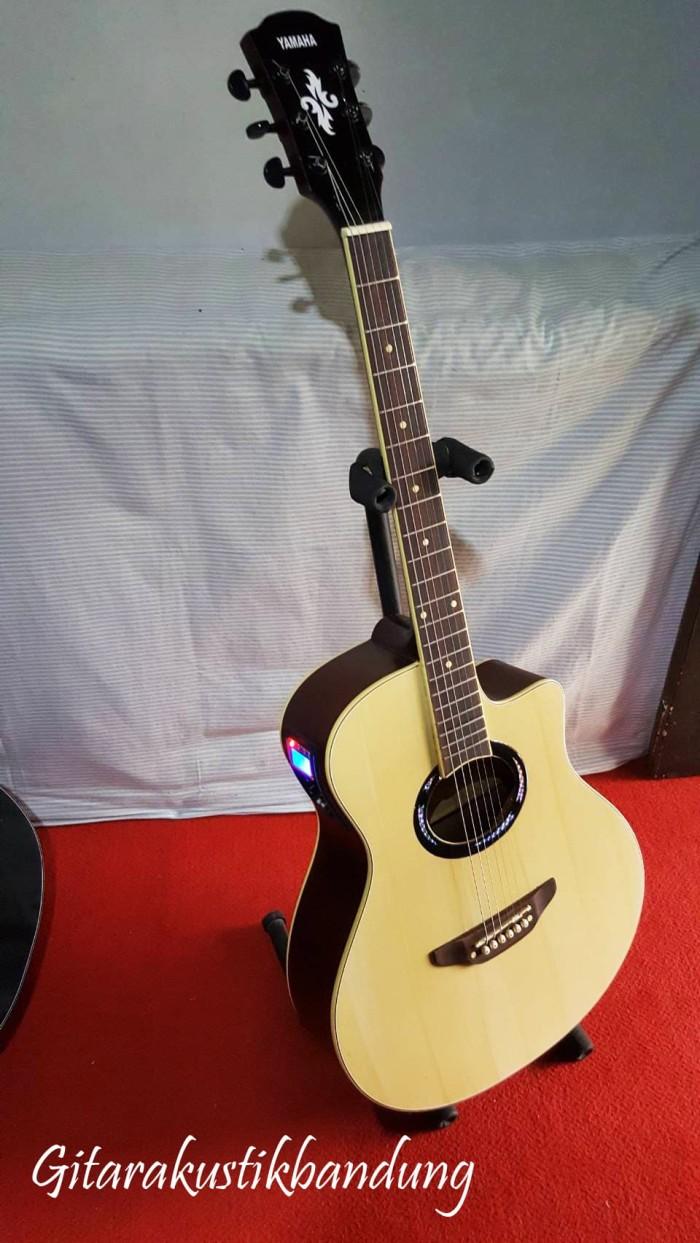 harga Gitar akustik murah elektrik yamaha natural doff ready gosend bandung. Tokopedia.com