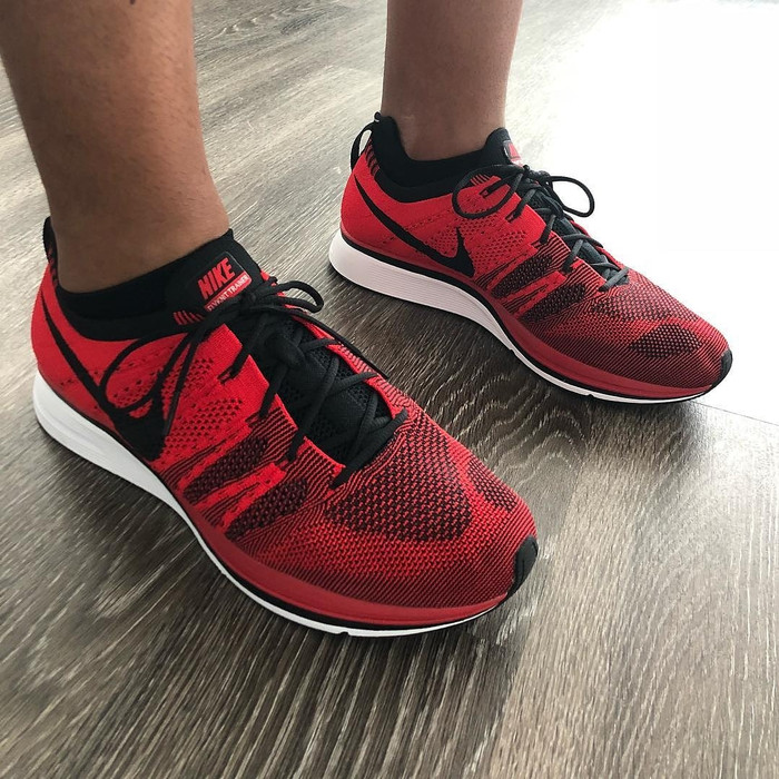 d49b0c9c1c0e Jual Nike Flyknit Trainer University Red Black - Struggle Sneaker ...