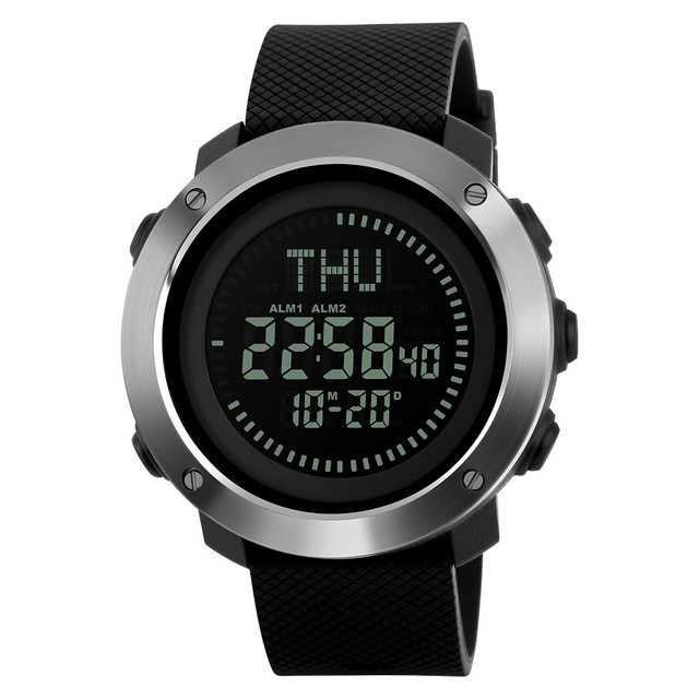 Skmei jam tangan kompas digital pria - 1293 - black