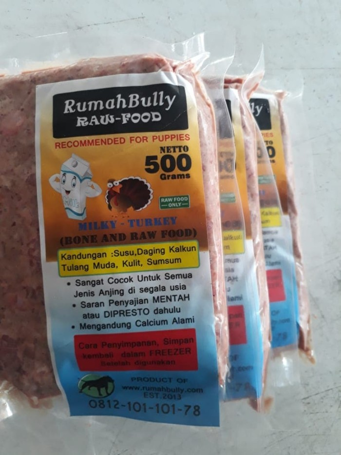 Foto Produk Dog Food/Cat Food/ FRESH MILKY TURKEY - Makanan Anjing/Makanan Kucing dari RumahBully
