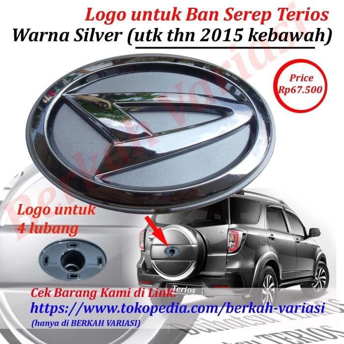 harga Emblem - logo belakang tutup -cover ban serep daihatsu terios silver Tokopedia.com
