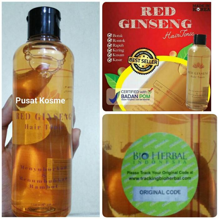 PAKET RED GINSENG SHAMPOO + HAIR TONIC BPOM 100% ORIGINAL