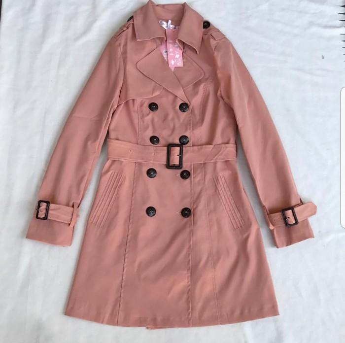 harga Korean trench coat(peach) Tokopedia.com