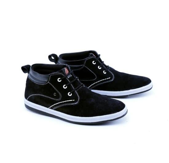 sepatu pria sneaker kulit suede GS sepatu distro cowo/sepatu main laki