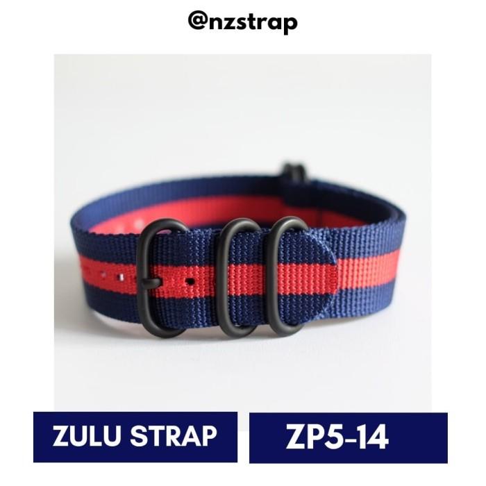 harga [zp5-14 size 24mm] tali jam zulu premium 5-ring black pvd strap Tokopedia.com