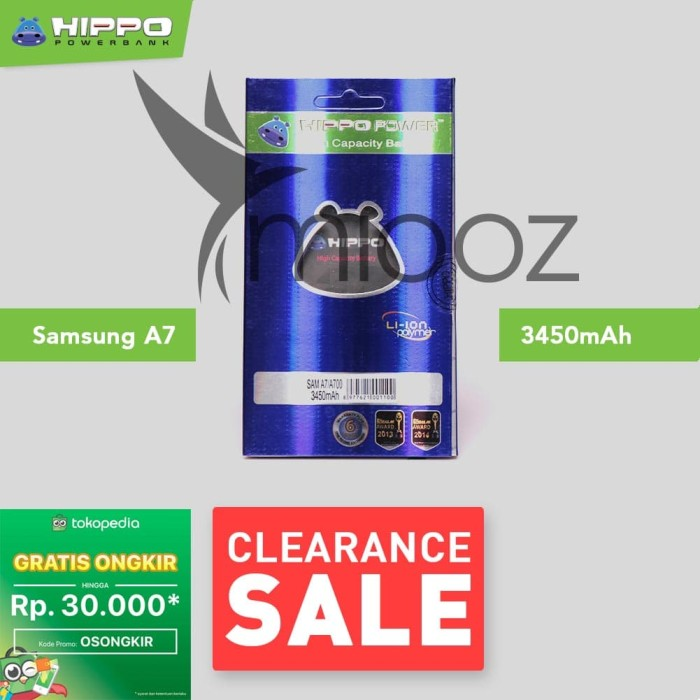Baterai hippo samsung a7 a700 2850 mah garansi resmi