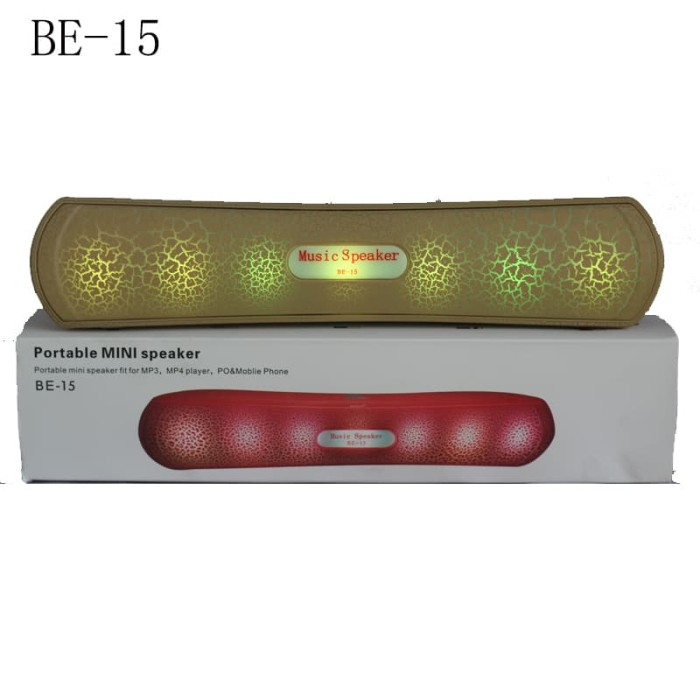 harga Be15 perfect choice bluetooth portable speaker original - cokelat muda Tokopedia.com