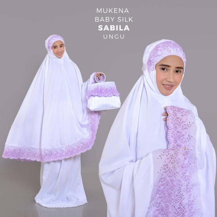 Mukena Baby Silk Sabila Ungu