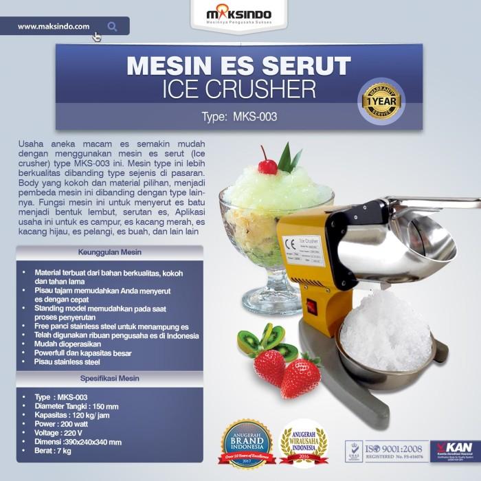 harga Mesin es serut (ice crusher mks-003) Tokopedia.com