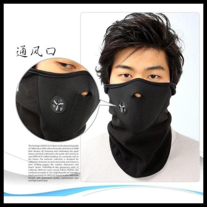 Motorcycle Polar Buff Ski Half Face Mask Masker Motor Air Filter Udara