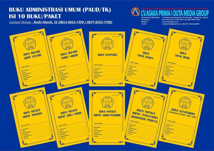 Jual Paket Murah Administrasi Umum Paud Tk Lengkap 10 Buku Kota Tangerang Asakamarket Tokopedia