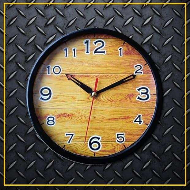 Jam dinding tempel wall clock murah motif kayu wood (mw2010) 0899c993fe