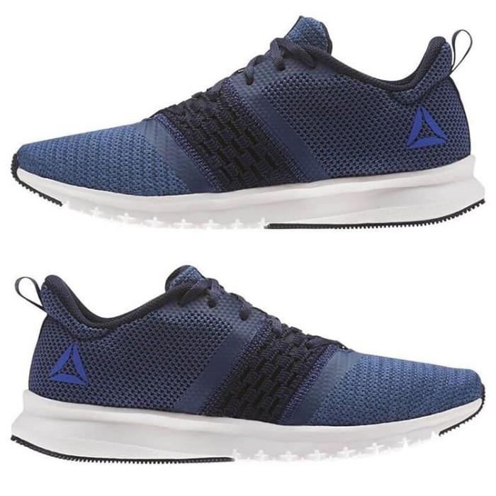 Reebok Print Lite Rush M Running Shoes Sepatu Olahraga Pria - Nav  CM8 6acc7e33c5