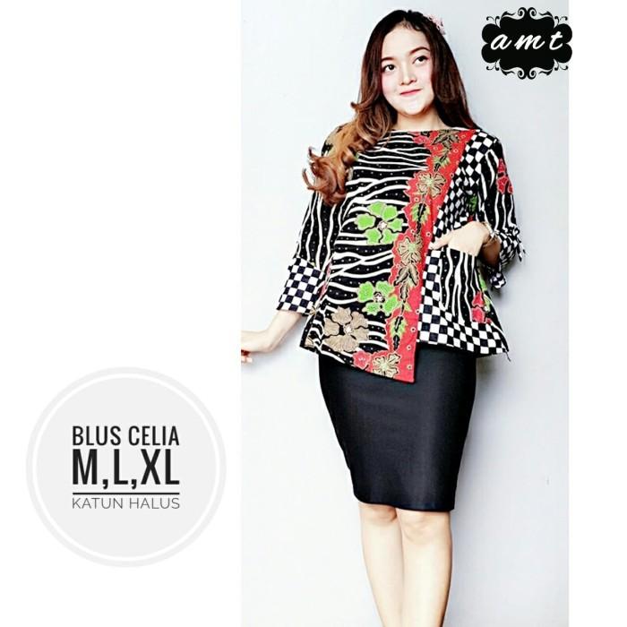 harga Batik solo blus celia amt mars batik amanah surakarta Tokopedia.com