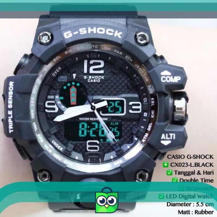 PROMO Jam tangan pria CASIO GSHOCK tali rubber karet sport GWG 1000