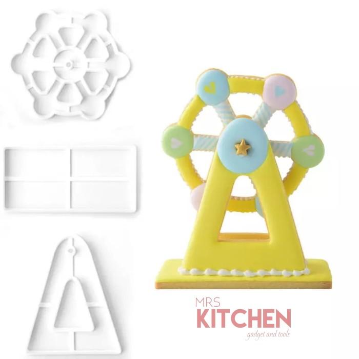 harga Cetakan cookie cookies kue kukis cutter ferris wheel 3d set of 3 large Tokopedia.com