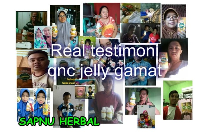 "Image result for testimoni qnc jelly gamat untuk lambung ""sapnu herbal"""