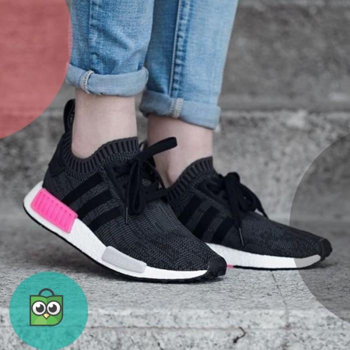 ce111b15e7f01 Jual Adidas NMD R1 Primeknit Shock Pink Premium Original   sepatu ...