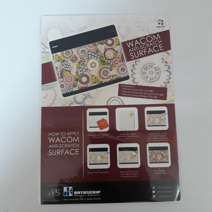 harga Anti gores batik untuk wacom intuos pen & touch small Tokopedia.com