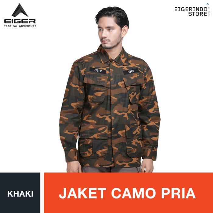 harga Eiger 1989 camo utility jacket shirt - khaki / jaket pria - cokelat muda xxl Tokopedia.com