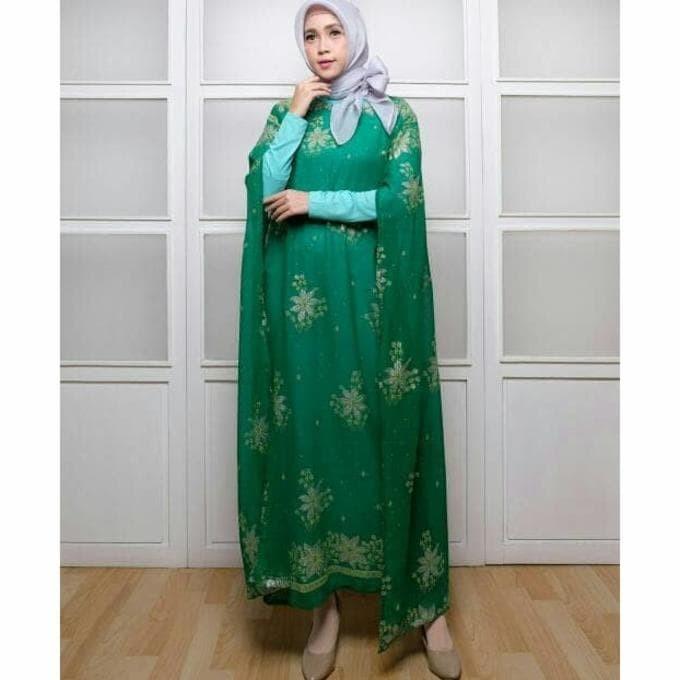 Jual Baju Syari Pakaian Wanita Muslim Kaftan Ckr India Hijau Termurah Jakarta Pusat Amanah Shoppp Tokopedia