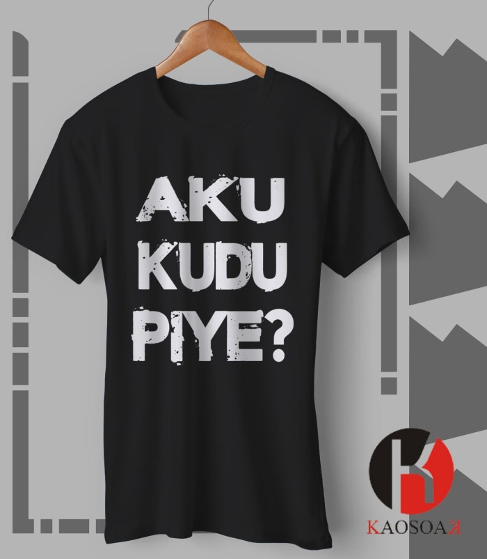 Jual Kaos Cowok Kaos Cewek Kaos Aku Kudu Piye Kota Semarang Kaosoak Tokopedia