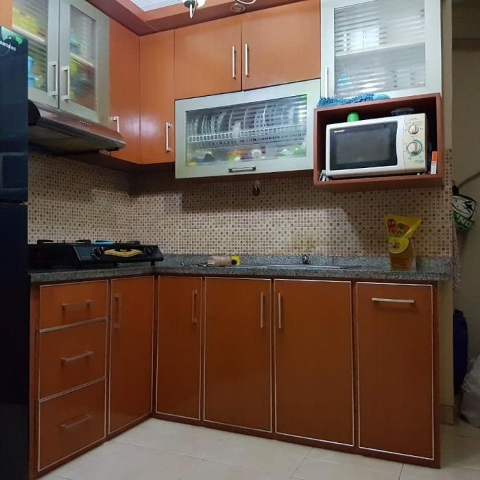 Jual Kitchen Set Tipe L Uk P270 L60 Bahan Rangka Besi Holo T12 Kota Bekasi Pesonalemari Kitchenset Tokopedia