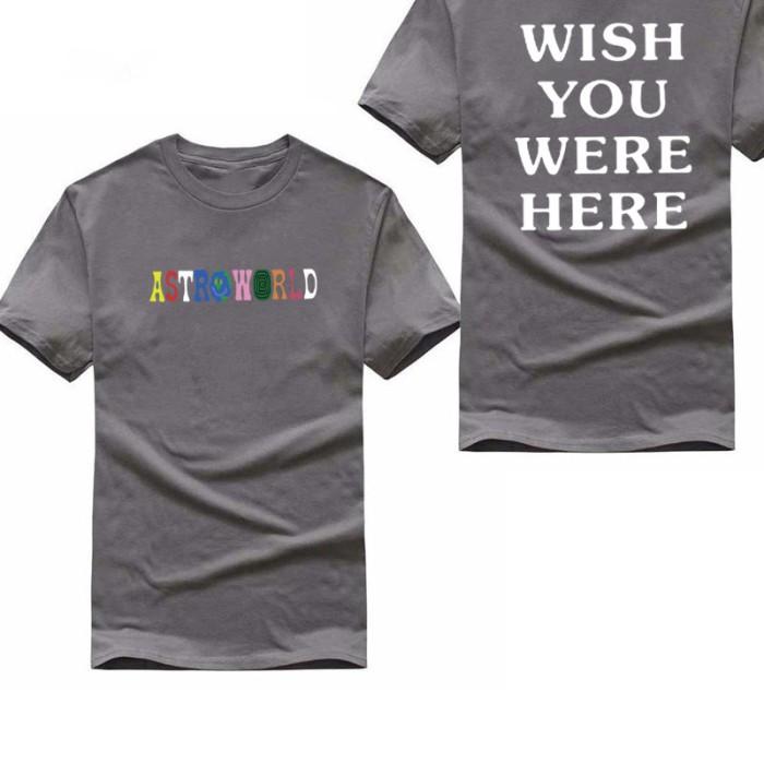 Jual Selling fashiont t shirt homme letter print Astroworld WISH YOU WERE H  - Jakarta Timur - Lela_Store   Tokopedia