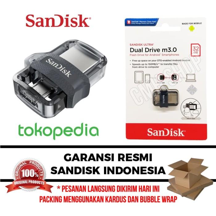 SanDisk OTG 32GB m3.0 USB 3.0 Ultra Dual USB Drive GARANSI RESMI