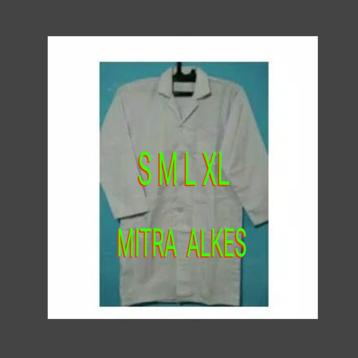 Foto Produk Jas lab lengan panjang / jas laboratorium / baju analis / baju lab dari MITRA  ALKES