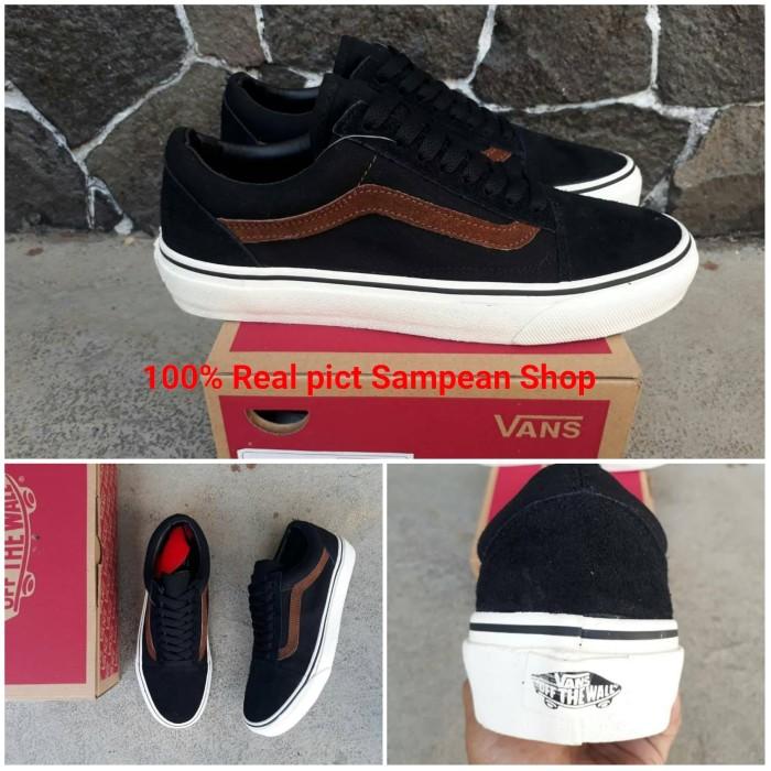 Jual Sepatu Vans Oldskool Old skool Black White Brown Original ... d137702850