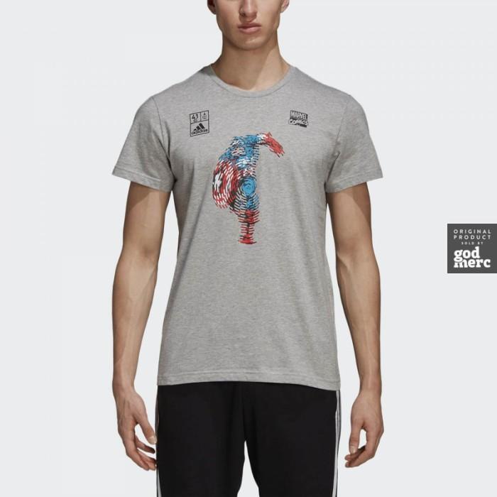 Jual Original Adidas Marvel Captain America Tshirt Dm7765 Godmerc