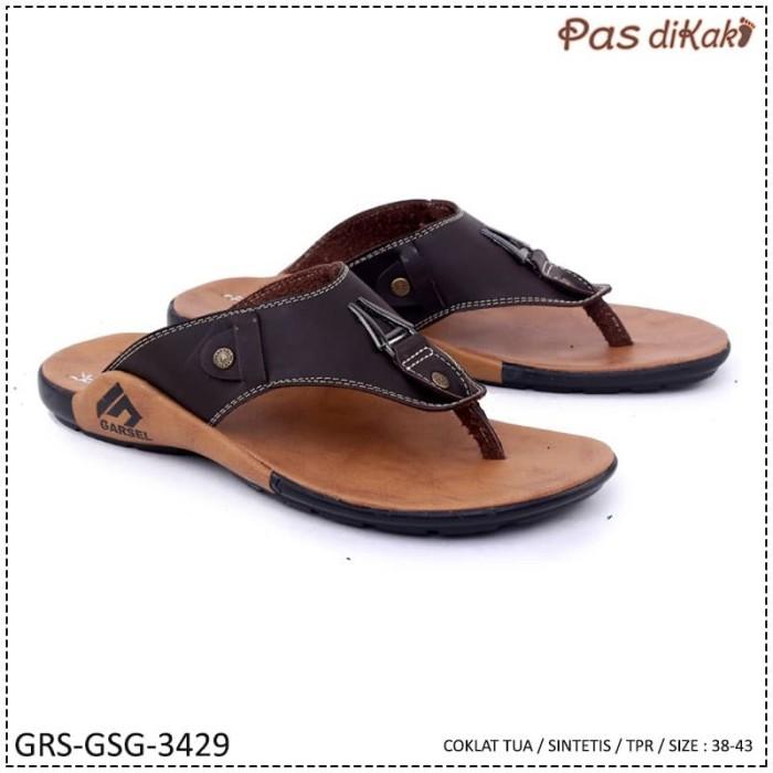 harga Sandal casual toe-post flip flop slipper pria   garsel grs-gsg-3429 Tokopedia.com