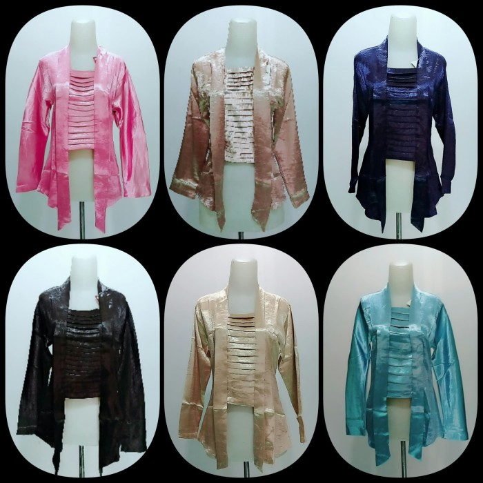 Jual Atasan Kebaya Satin Kab Pasuruan Faaza Collection Tokopedia