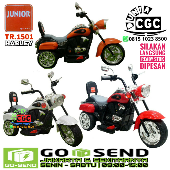 Foto Produk Mainan Motor Aki Anak Harley Mini Khusus Gokilat dari Mykidshop89