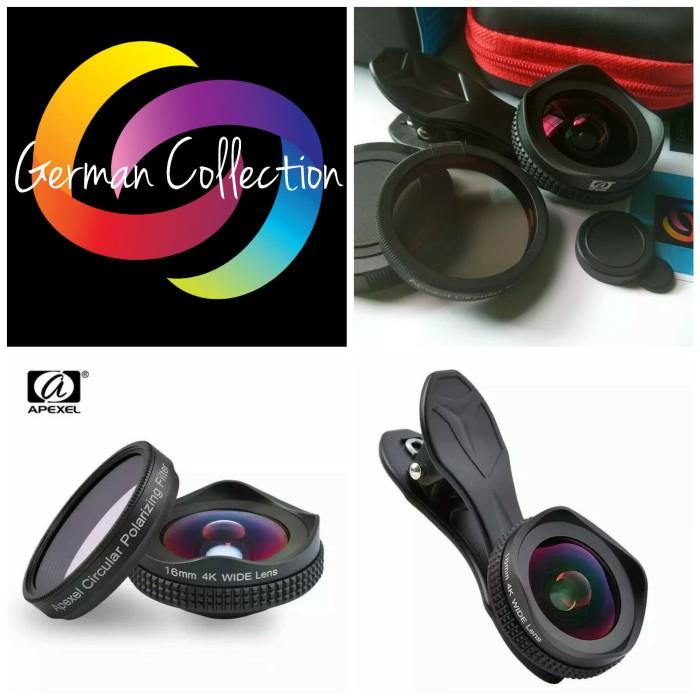harga Apexel professional 4k wide lens circular polarizing filter 16mm hd Tokopedia.com